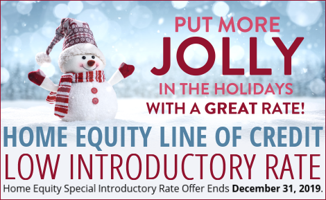 HELOC Introductory Rate through December 31.  Click for pdf.